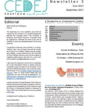 CEDEJ Khartoum Newsletter